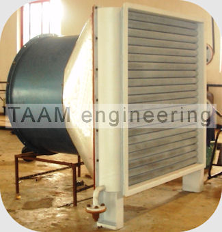 air cooled condenser assembled with fan